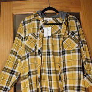Love Tree Plaid Flannel Comfy Shirt/Detachable Hoo